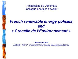 French renewable energy policies and    Grenelle de l Environnement
