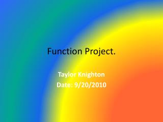 Function Project.