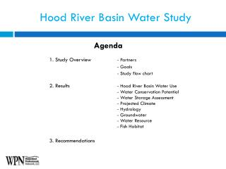 Hood River Basin Water Study