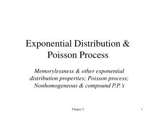 Exponential Distribution & Poisson Process