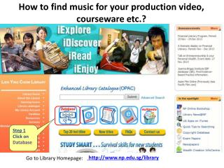 How to find  music for your production video,  courseware etc.?
