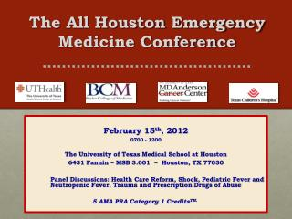 The All Houston Emergency Medicine Conference