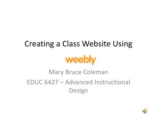 Creating a Class Website Using