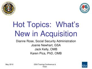 Hot Topics:  What's New in Acquisition