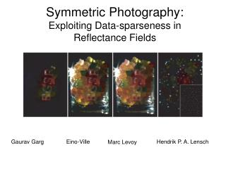 Symmetric Photography: Exploiting Data-sparseness in Reflectance Fields