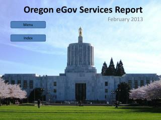Oregon  e Gov  Services Report