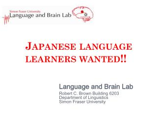 Japanese language learners wanted!!