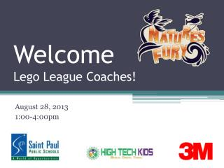 Welcome  Lego League Coaches!
