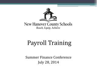Summer Finance Conference July 28, 2014