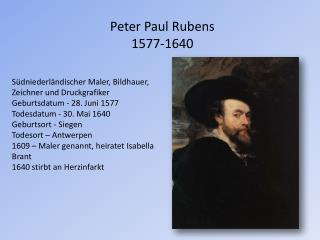 Peter Paul Rubens  1577-1640