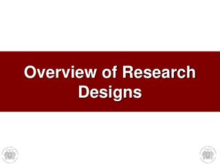 Overview of Research Designs