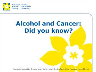 Alcohol and Cancer: Did you know?