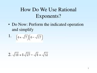 How Do We Use Rational Exponents?