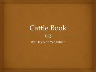 Cattle Book