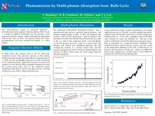 Photoemission by  M ulti-photon Absorption from  Bulk GaAs