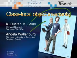 Class-local object invariants
