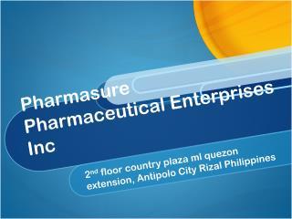 Pharmasure Pharmaceutical Enterprises Inc