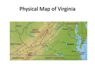Physical Map of Virginia