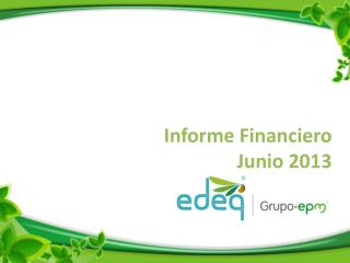 Informe Financiero Junio 2013