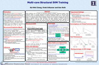 Multi-core  Structural SVM  Training Kai-Wei  Chang,  Vivek Srikumar and Dan Roth