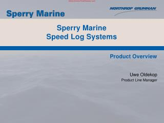 Sperry Marine  Speed Log Systems