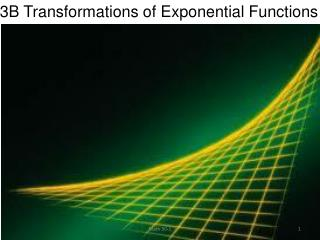 3B Transformations of Exponential Functions