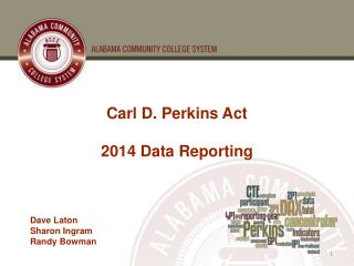 Carl D. Perkins Act 2014 Data Reporting