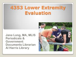 4353 Lower Extremity Evaluation