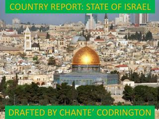 COUNTRY REPORT: STATE OF ISRAEL