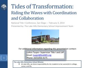 Tides of Transformation:  Riding the Waves with Coordination and Collaboration