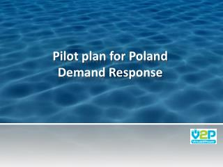 Pilot plan for Poland Demand Response