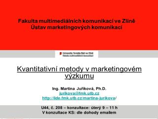 Workshop Josefa Vojty: Neuromarketing, FMK