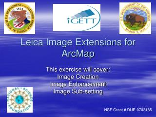 Leica Image Extensions for ArcMap