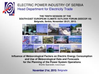 Influence of Meteorological Factors on Electric Energy Consumption