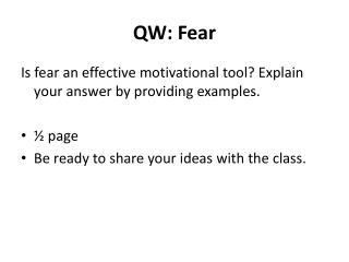QW: Fear