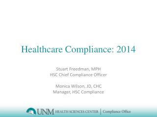 Healthcare Compliance: 2014