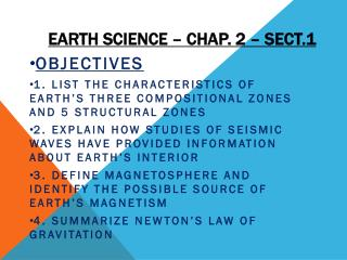 Earth Science – Chap. 2 – Sect.1