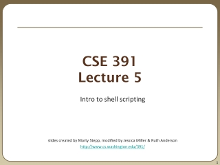 CSE 391 Lecture 5