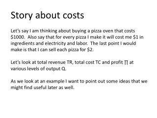 Story about  costs