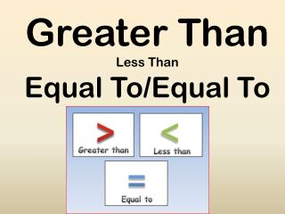 Greater Than Less Than Equal To/Equal To