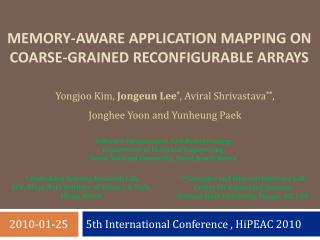 5th International Conference ,  HiPEAC  2010