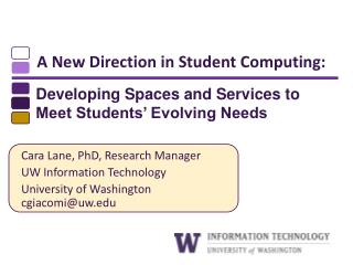A New Direction in Student Computing: