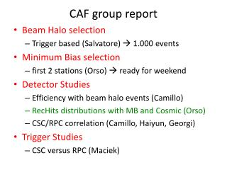 CAF  group  report