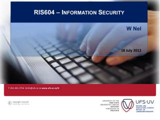 RIS604 – Information Security