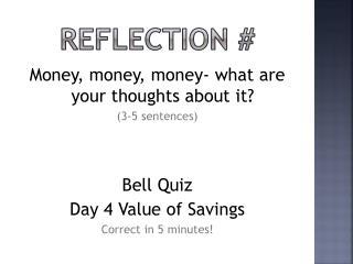 Reflection #