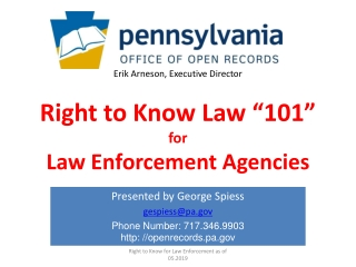 Records Access II Law Enforcement