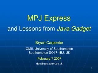 MPJ Express