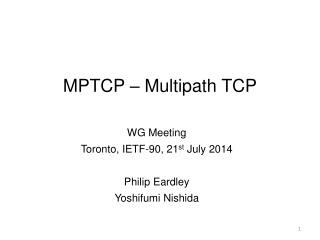 MPTCP – Multipath TCP
