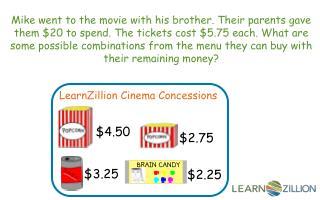LearnZillion Cinema Concessions