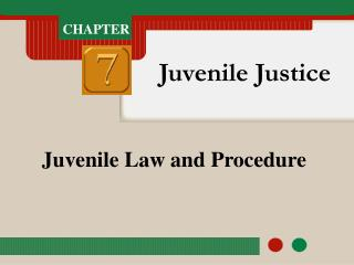 Juvenile Law and Procedure